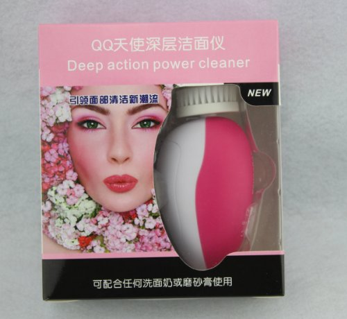 4 In 1 Electric Facial Cleanser Cleaner & Body Cleaning Massage Skin Spa Machine (Pink)