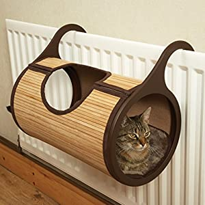 jolly moggy bamboo cat radiator bed 46525