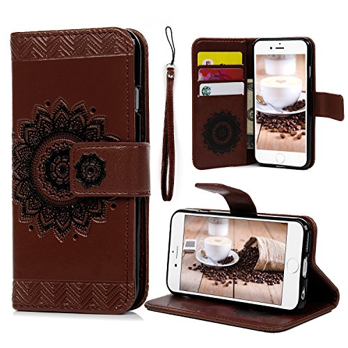 Henna Leather Wallet Iphone Case