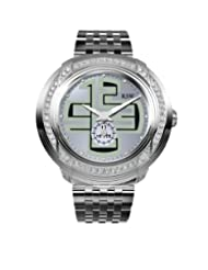 RSW Men's 9130.BS.S0.52.F1 Volante Diamond Silver Sunray Dial Sub-second Luminous Stainless Steel Bracelet Watch