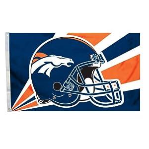 NFL Denver Broncos 3-by-5 Foot Helmet Flag by Fremont Die