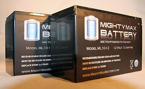 ML10-12 - 12V 10AH Schwinn S350, S-350 Scooter Battery - 2 Pack - Mighty Max Battery brand product