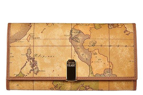 Alviero Martini portafoglio portamonete donna  bifold large natural marrone