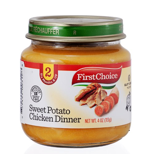 First Choice Baby Food Sweet Potato Chicken Dinner Stage 2, 4 oz, 12 Pack - 1
