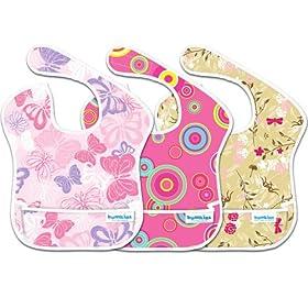 (史低)Bumkins 3 Pack Waterproof SuperBib宝宝防水围兜三个装$$10.39