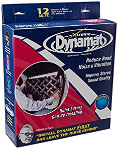 "Dynamat 10435 12"" x 36"" x 0.067"" Thick Self-Adhesive Sound Deadener with Xtreme Door Kit"