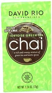 David Rio Chai Tea Single Serve Packets, Tortoise Green, 48 Count