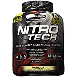 MuscleTech NitroTech Protein Powder, Whey Isolate + Lean MuscleBuilder, Vanilla, 3.97 lbs (1.80kg)