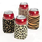Leopard/animal Print Can Insulator Koozies (12 Pack)