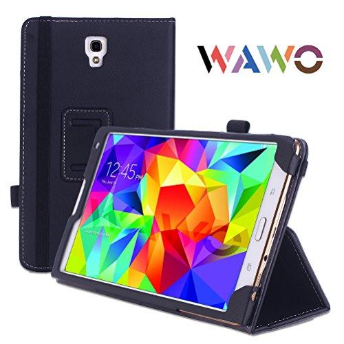 Wawo Creative Smart Cover Folio Case For Samsung Galaxy Tab S 8.4 Inch Tablet-Black