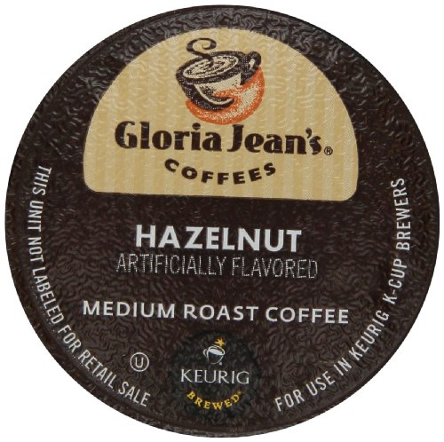 Gloria Jean's Hazelnut, K-Cup for Keurig Brewers, 24-Count (Pack of 2)