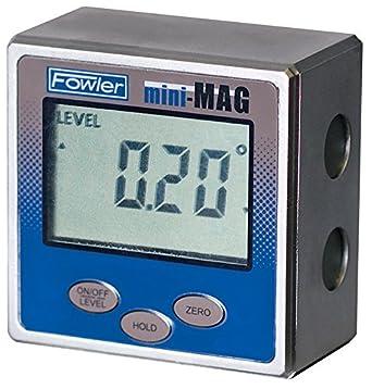 Fowler 54-422-450-1 Mini-MAG Protractor, 360° Maximum Measurement, 0.05° Repeatability