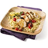 """Leafware Square Plates (25 Pack), 9"""", Natural"""