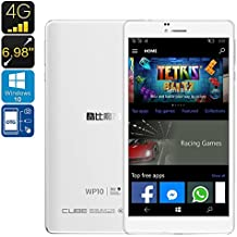Cube WP10 4G Windows Phablet - Licensed Windows 10, 6.98-Inch Display, Quad-Core CPU, OTG, 4G, 2GB RAM, 128GB...