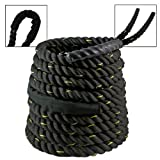 "2"" Battle Rope Fitness Strength Endurance Building Cardio Interval Core Undulation Wave Training"