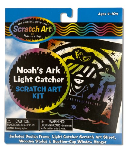 Melissa & Doug Noah's Ark Light Catcher Scratch Art Kit - 1