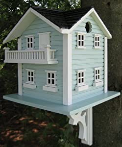 "15"" Fully Functional Elaborate 2-Story Lake Home Birdhouse"