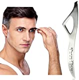 Brow Plow Tweezers - Incredible Guarantee - Best Precision Slant Tip Stainless Steel Tweezers Made for a Man