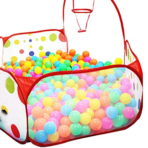 LandFox-Toy-ToteChildren-Pop-up-Hexagon-Polka-Dot-Ball-Play-Pool-Tent-Carry-Tote