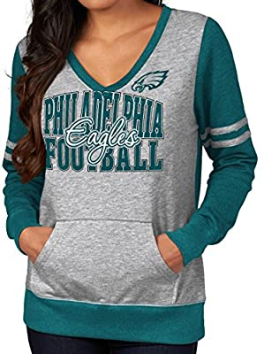 "Philadelphia Eagles Women's Majestic NFL ""Performer"" Lightweight Pullover Shirt"