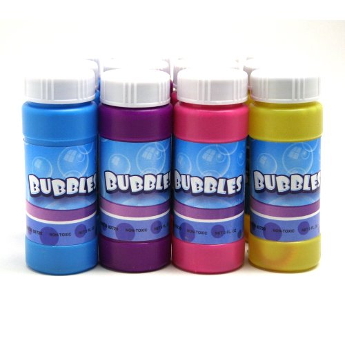 Rhode Island Novelty Bubble Bottles Assortment (12-Pack)