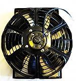 (mind items) 10インチ 汎用 薄型 電動ファン プル式 吸風式 12V 自動車用