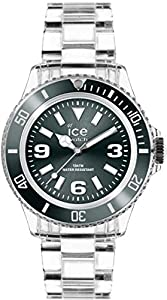 ICE-Watch - Montre Mixte - Quartz Analogique - Ice-Pure - Anthracite - Unisex - Cadran Gris - Bracelet Plastique Transparent - PU.AT.U.P.12
