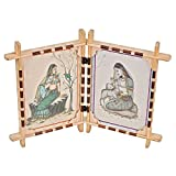 Craft Art India Wooden Table Top Beautiful Double Photo Frame