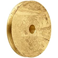 "Boston Gear G1218 Grooved Pulley, Fits Round Belts 0.1875"" or Smaller, 0.250"" Face, Brass"