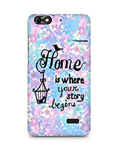 AMEZ home is where your story begins Back Cover For Huawei Honor 4C
