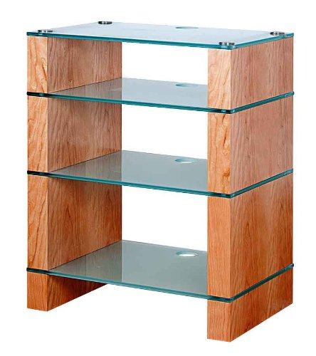 Cheap BLOK STAX DeLuxe 400 Four Shelf Cherry Hifi Audio Stand & AV TV Furniture Rack Unit (B008AHJ2ZY)
