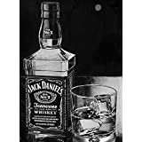 Tallenge - Black And White JD Art - A3 Size Premium Quality Rolled Poster