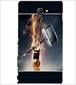 PrintDhaba Hammer D-1353 Back Case Cover for SONY XPERIA M2 (Multi-Coloured)