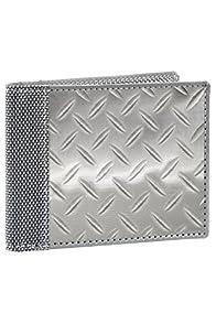 Stewart Stand Stainless Steel Diamond Plate Fold Wallet (Silver)