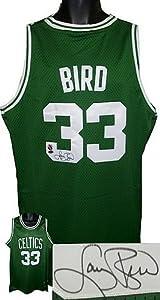 Larry Bird signed Boston Celtics Green Authentic Adidas Swingman Jersey- Bird...