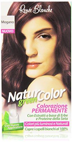 Renée Blanche - Natur Color Colorazione Permanente Mogano, con Estratti a Base di Erbe e Proteine della Seta