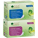 Bliss Of Earth™ 280MM & 330MM CottonFresh Day/Night Use Sanitary Napkins Combo (Pack Of 2) Total 16 Counts