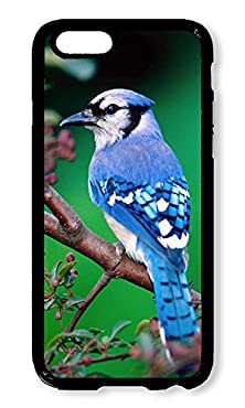 buy Phone Case Custom Iphone 6 4.7Inch Phone Case Beautiful Blue Jay Bird Black Polycarbonate Hard Case For Apple Iphone 6 4.7Inch Case