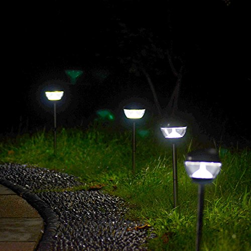 Kootek® 5 Led Solar Powered Landscape Lighting Outdoor Garden Accent Ground Spot Light Floodlight With Repellent Function