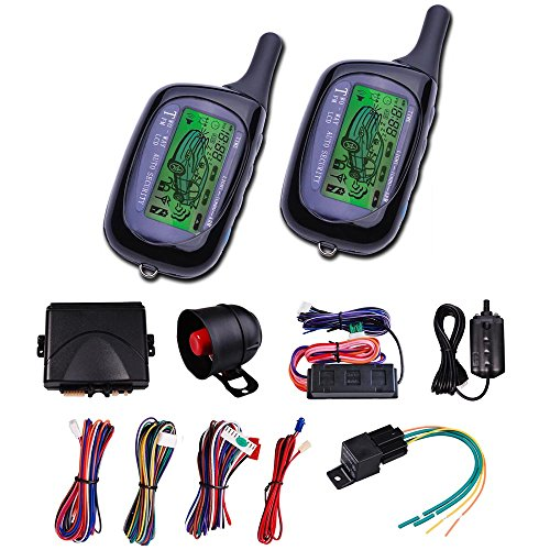 Vehicle Security Paging Car Alarm 2 Way LCD Remote Engine Start System Kit Auto (Engine Car compare prices)