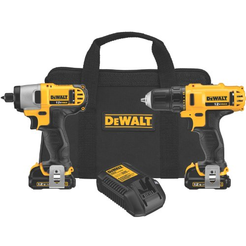 KIT INCLUDES COMPACT & LIGHTWEIGHT 3/8 DRILL/DRIVER & 1/4 IMPACT DRIVER TWO 12V LI-ION BATTERY PACKS FAST CHARGER BIT TIP 2 BELT HOOKS & CONTRACTOR BAGDRILL/DRIVER FEATURES :  2-SPEED TRANSMISSION 3/8 KEYLESS CHUCK & LED LIGHT ...