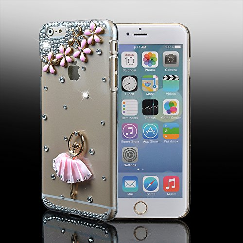 For Iphone 6 Plus Case,Ic Iclover Perfect-Fit Iphone 6 Plus 5.5 Case, 3D Crystal Rhinestone Diamond Bling Bumper Skin Case Glitter Hard Case Cover For Iphone 6 Plus 5.5 Inch Protector Case Carries At&T,T-Mobile,Verizon,Sprint-Ballet