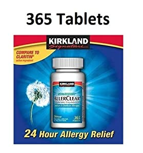 Kirkland Signature Non Drowsy Allerclear Loratadine Tablets, Antihistamine, 10mg, 365-Count