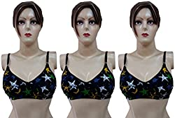 Printed Cotton Bra Pack of 3