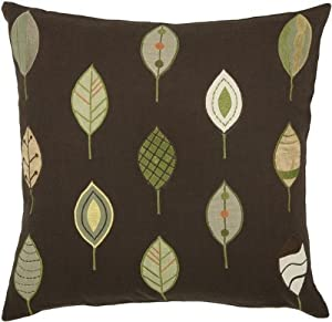 green and brown leaves pillow throw pillows. Black Bedroom Furniture Sets. Home Design Ideas
