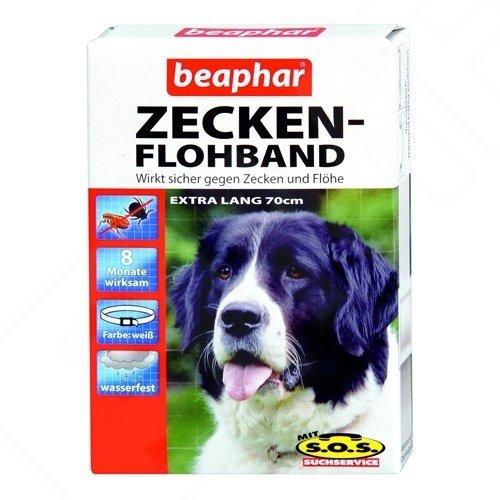 Artikelbild: Beaphar - Zecken-Flohband für Hunde mit SOS extra lang - 70 cm
