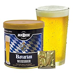 Mr. Beer Bavarian Wheat Homebrewing Craft Beer Refill Kit