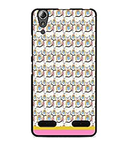PrintDhaba Pattern D-1521 Back Case Cover for LENOVO A6000 PLUS (Multi-Coloured)