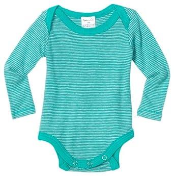 Splendid Littles Unisex-Baby Infant Stripe Bodysuit Shirt, Agave, 18-24 Months