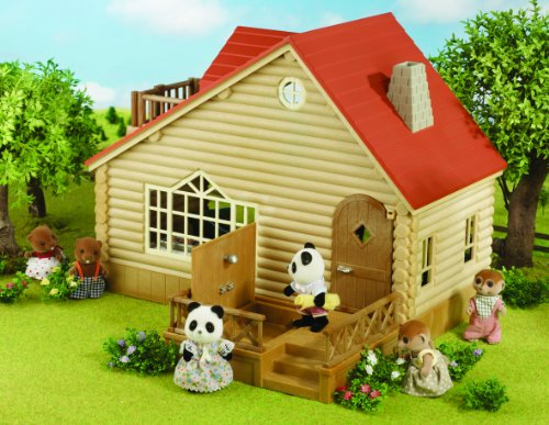 Sylvanian Families Log Cabin Living Room Furniture Set